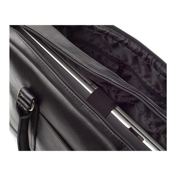 Męska torba skórzana Solier SL02 Black