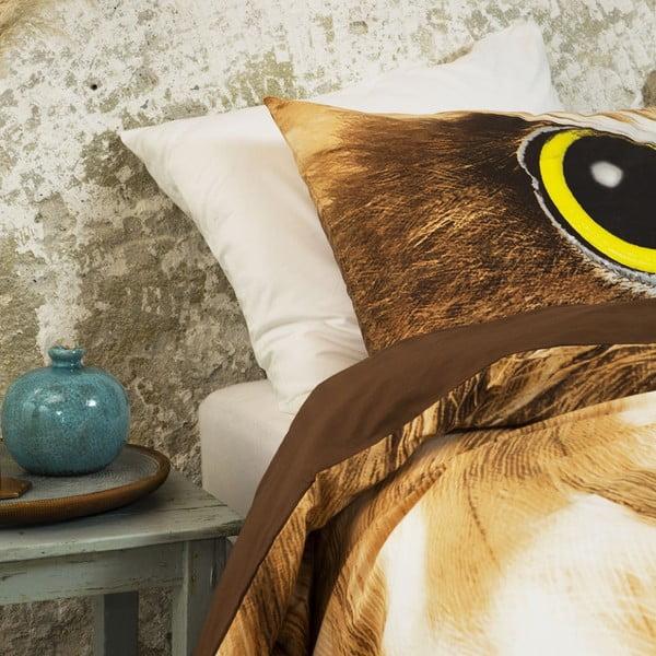 Pościel Owl Look Taupe, 200x200 cm