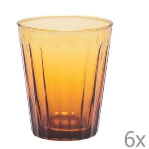 Zestaw 6 szklanek na wodę Lucca Honey, 450 ml