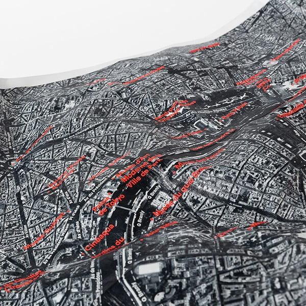 Zgnieciona mapa satelitarna Mediolanu