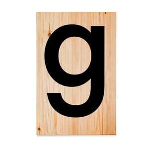 Drewniana tabliczka Letters G