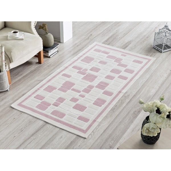Dywan Pink Tiles, 120x180 cm