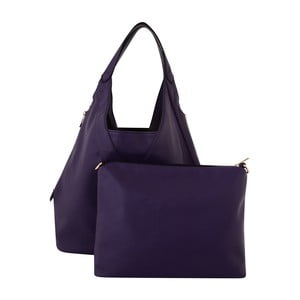 Ciemnofioletowa torebka skórzana Kris Ana Purple