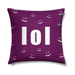 Poduszka LOL Violet, 43x43 cm