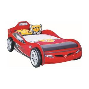 Czerwone łóżko dziecięce w kształcie auta Coupe Carbed Red, 90x190 cm