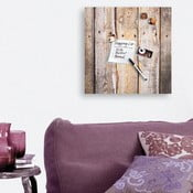 Tablica magnetyczna Eurographic Timber, 50x50 cm