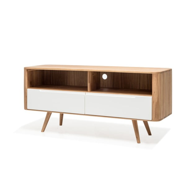 Dębowy stolik pod TV Gazzda Ena Three, 135x42x60 cm