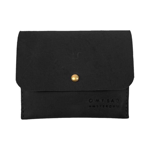 Skórzany wizytownik O My Bag, czarny