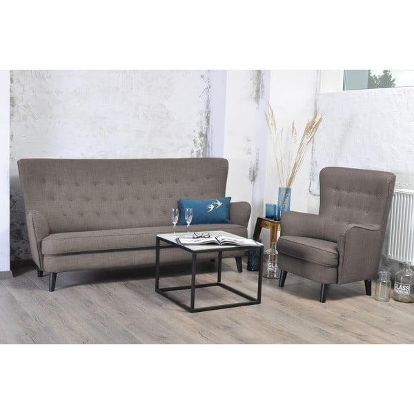 Antracytowa sofa trzyosobowa VIVONITA Fifties