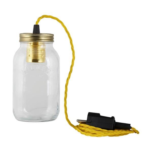 Lampa JamJar Lights, żółty skręcony kabel