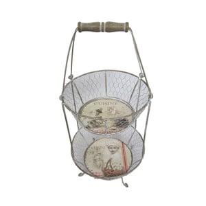 Zestaw 2 koszyków w stojaku Antic Line Cuisine