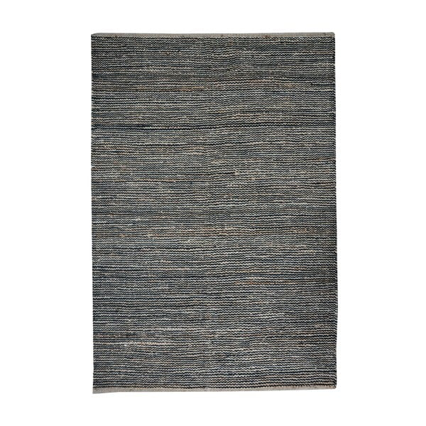 Dywan z konopi Coastal Natural/Black, 160x230 cm