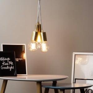 Lampa wisząca potrójna Cero, złoty/biały/biały