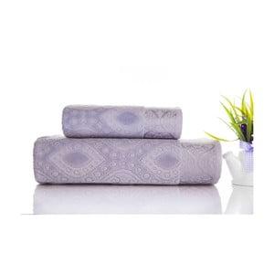 Zestaw 2 ręczników Sal Grey, 50x90 cm i 70x140 cm