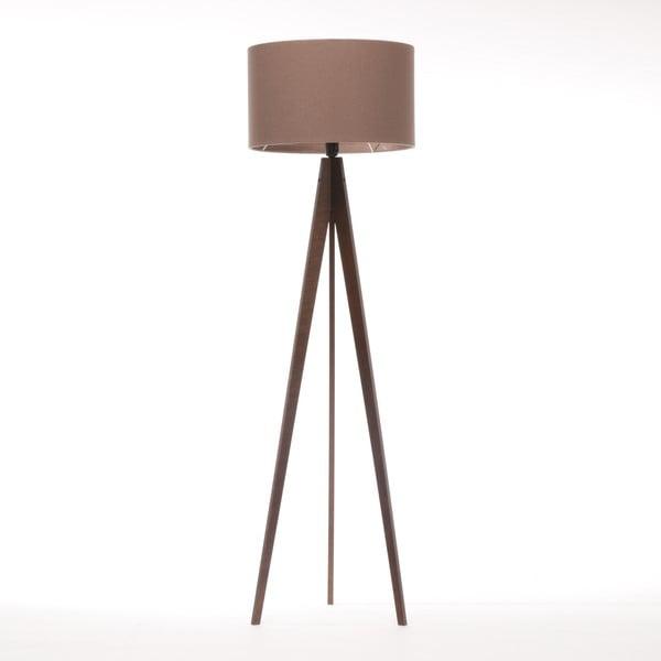Lampa stojąca Artist Dark Taupe Felt/Dark Brown, 125x42 cm