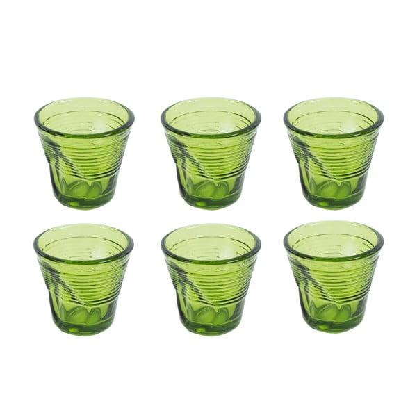 Zestaw 6 szklanek Kaleidoskop 115 ml, zielony