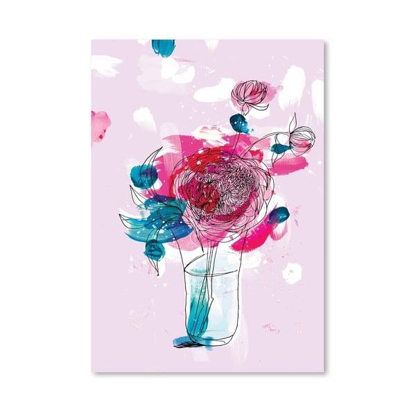 Plakat Pink Flowers 2, 30x42 cm