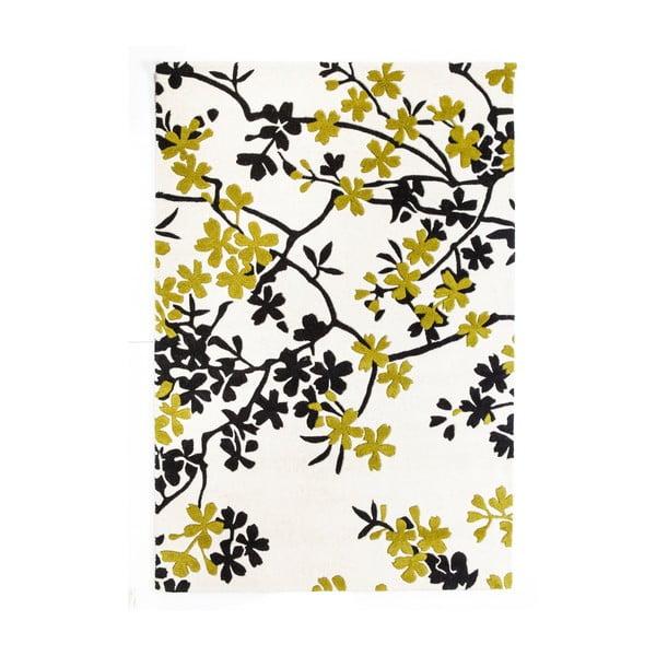 Wełniany dywan Rosono Lime, 170x240 cm
