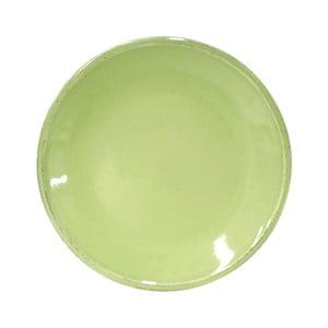 Zielony kamionkowy talerz deserowy Costa Nova Friso, ⌀22cm