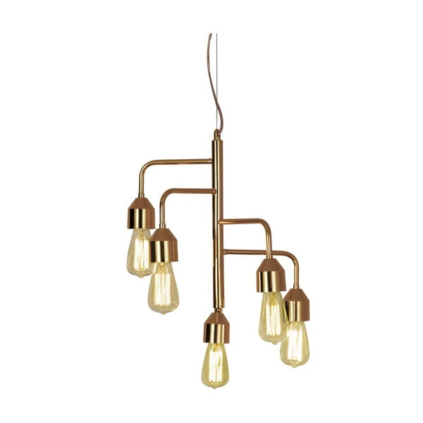 Lampa wisząca Scan Lamps Flynn Five Copper