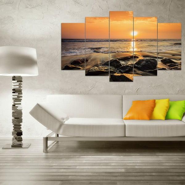 5-częściowy obraz Seashore, 60x100 cm