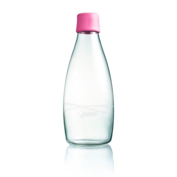 Jasnoróżowa butelka ze szkła ReTap z dożywotnią gwarancją, 800 ml