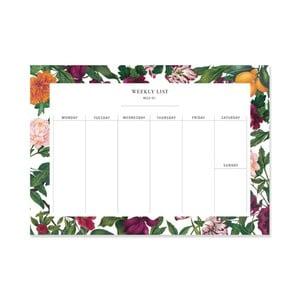Kalendarz tygodniowy Leo La Douce The English Garden I, 21x29,7cm
