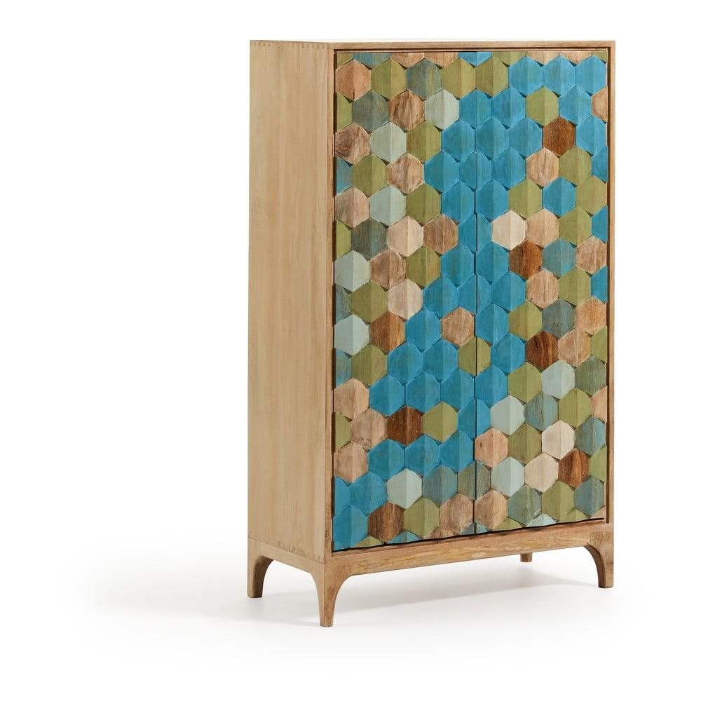 Kolorowa szafka z drewna mango La Forma Ilka