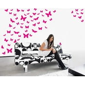 Naklejka ścienna Motyle, różowa