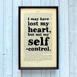 Plakat w   drewnianej ramie Emma Self Control
