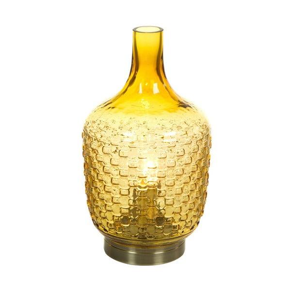 Żółta szklana lampa stołowa Santiago Pons Don