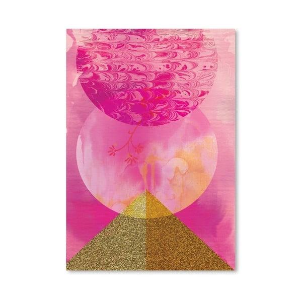 Plakat Golden Pink, 30x42 cm