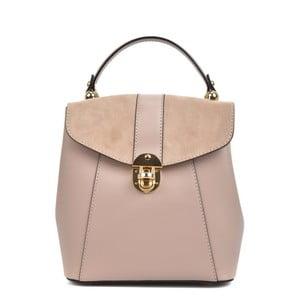 Różowy plecak skórzany Isabella Rhea Carmit