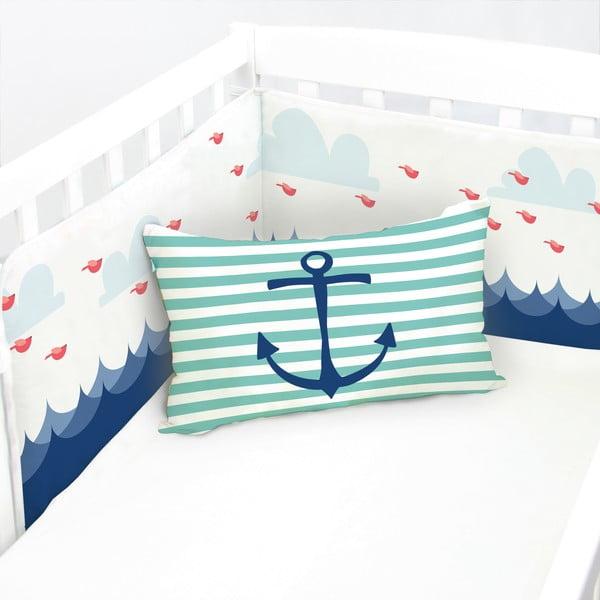Regulowany ochraniacz do łóżeczka Baleno Whale Ride, 210x40 cm