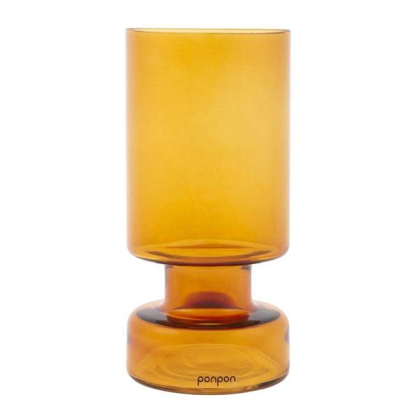 Wazon/świecznik Delhi 31 cm, bursztynowy