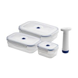 Zestaw 3 pojemników próżniowych na żywność z pompką Compactor Food Saver