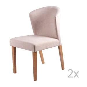 Zestaw 2 beżowych krzeseł sømcasa Alina