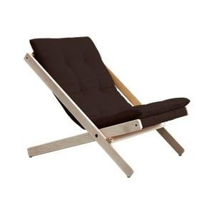 Fotel składany Karup Design Boogie Raw/Brown