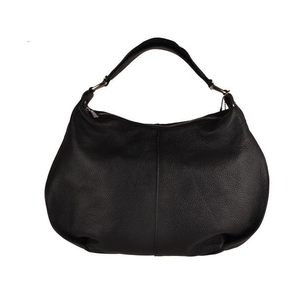 Skórzana torebka Emilio Masi Russel, czarna