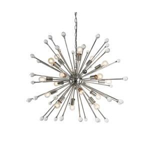 Srebrna lampa wisząca Artelore Evora, Ø100cm