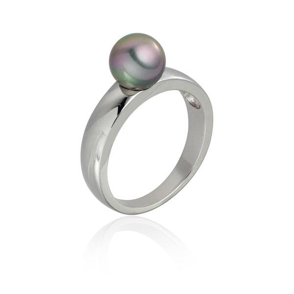 Pierścionek Nova Pearls Copenhagen Jeanne Silver/Grey, rozm. 56
