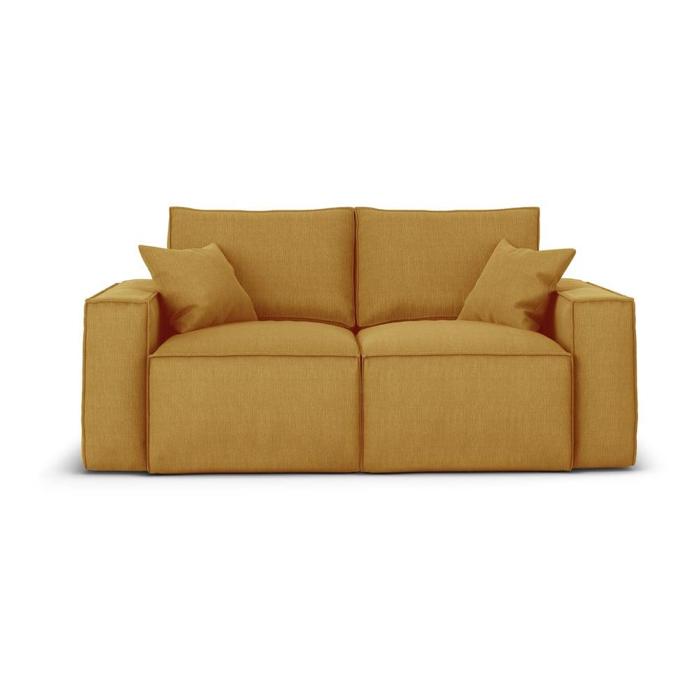 Żółta sofa Cosmopolitan Design Miami, 180 cm