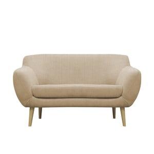 Beżowa sofa dwuosobowa Mazzini Sofas Sardaigne