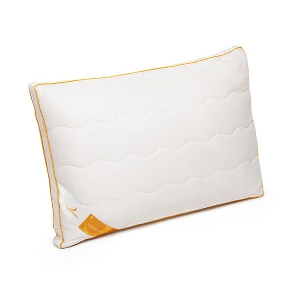 Biała poduszka z wełną merynosową Green Future Lana, 45x65 cm