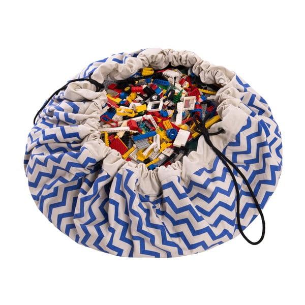 Mata do zabawy i worek na zabawki w jednym Play & Go Zigzag Blue