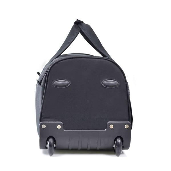Czarna torba podróżna na kółkach Hero,43l