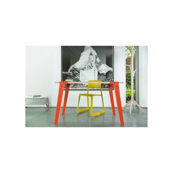 Niebieski stół/biurko rform Switch, blat 122x63 cm