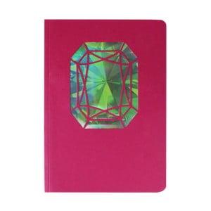 Notes A6 Portico Designs Smaragd, 124 str.