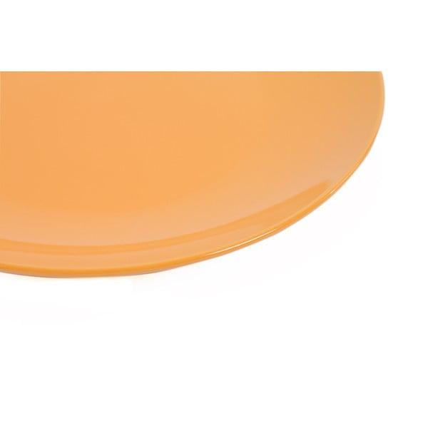 Komplet 6 talerzy Kaleidoskop 27 cm, pomarańczowy