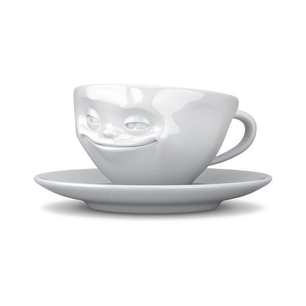 Biała uśmiechnięta filiżanka 58products, 200 ml